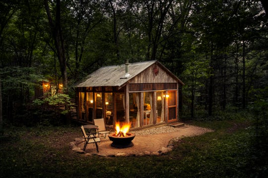 Candlewood Cabins built the Glass House on its Richland County property in 2006. It's available for rent April through November.
