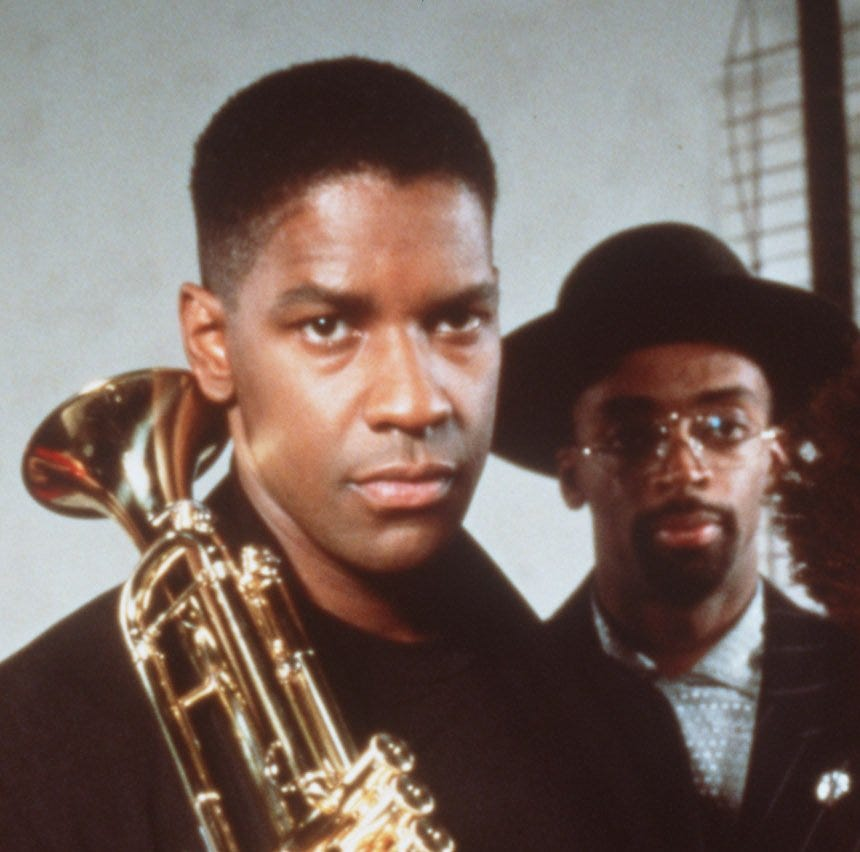 """Denzel Washington (left) and Spike Lee star in Lee's 1990 movie """"Mo' Better Blues."""""""