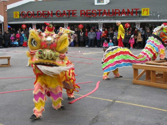 Celebrate the Chinese New Year at Golden Gate Restaurant in Waukesha with a free lion dance show and more than 200,000 firecrackers from 1:30 to 2:30 p.m. Saturday.