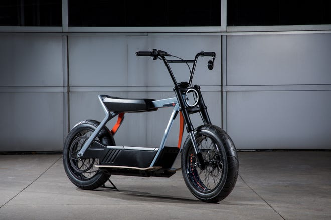 Harley-Davidson says it's introducing more electric motorcycles, like this concept bike, aimed at new riders.