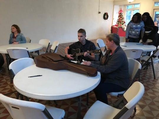 """""""Music on Main"""" is a program funded by a grant from the CMA Foundation to provide guitar lessons – and guitars -- for 15 local students."""