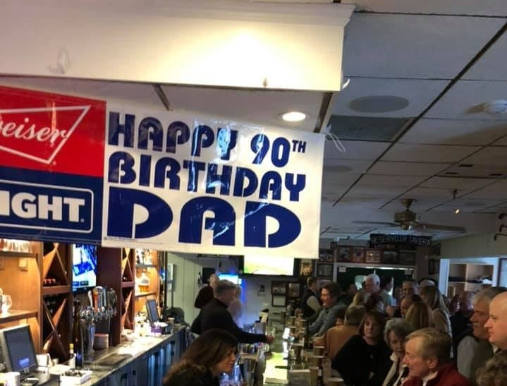 Locally famous Reservoir Tavern opens on a very rare Sunday to celebrate the 90th birthday of patriarch Nick Bevacqua Jr. The three-generation family business, a local landmark since 1936, is the 10th-oldest pizzeria in the U.S.