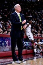 Jan 26, 2019; Starkville, MS, USA; Mississippi State Bulldogs head coach Ben Howland looks on during the first half against the Auburn Tigers at Humphrey Coliseum. Mandatory Credit: Matt Bush-USA TODAY Sports