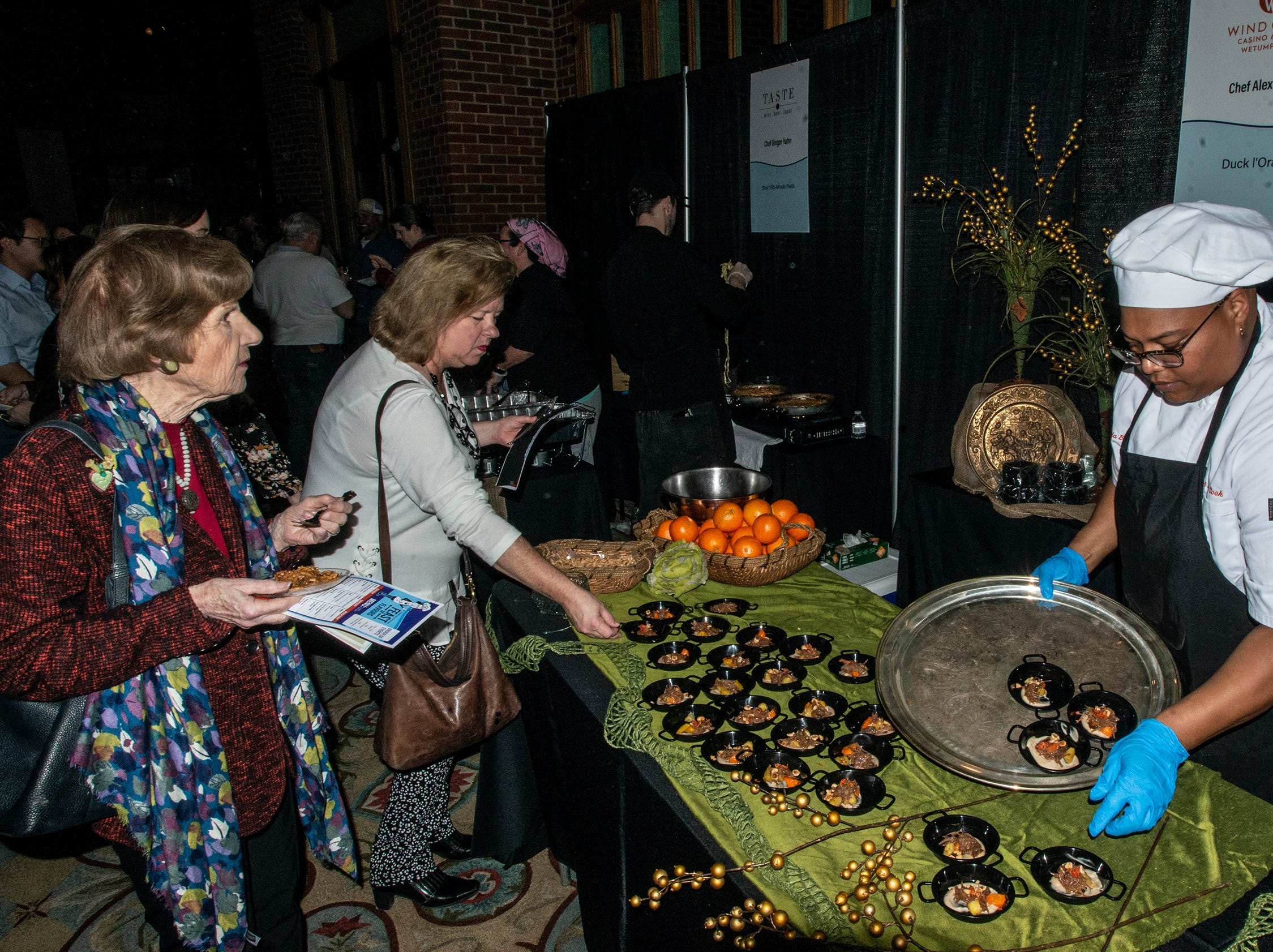 Wind Creek Wetumpka serves guests Duck l'Orange. The annual Feast of Flavours was held Monday, Jan. 28, 2019, at Alabama Shakespeare Festival in Montgomery.