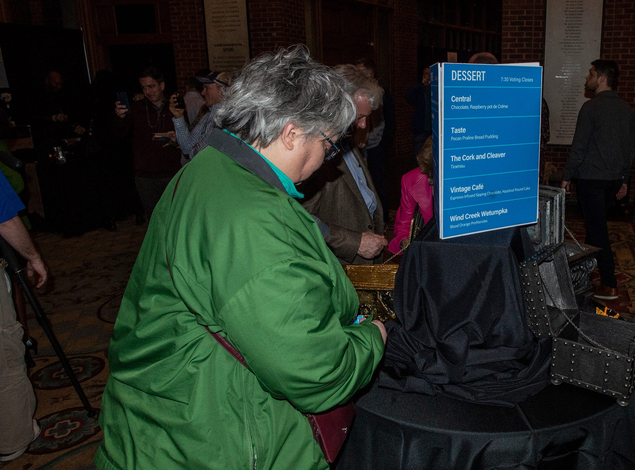 Guests vote for their favorite foods and drinks. The annual Feast of Flavours was held Monday, Jan. 28, 2019, at Alabama Shakespeare Festival in Montgomery.
