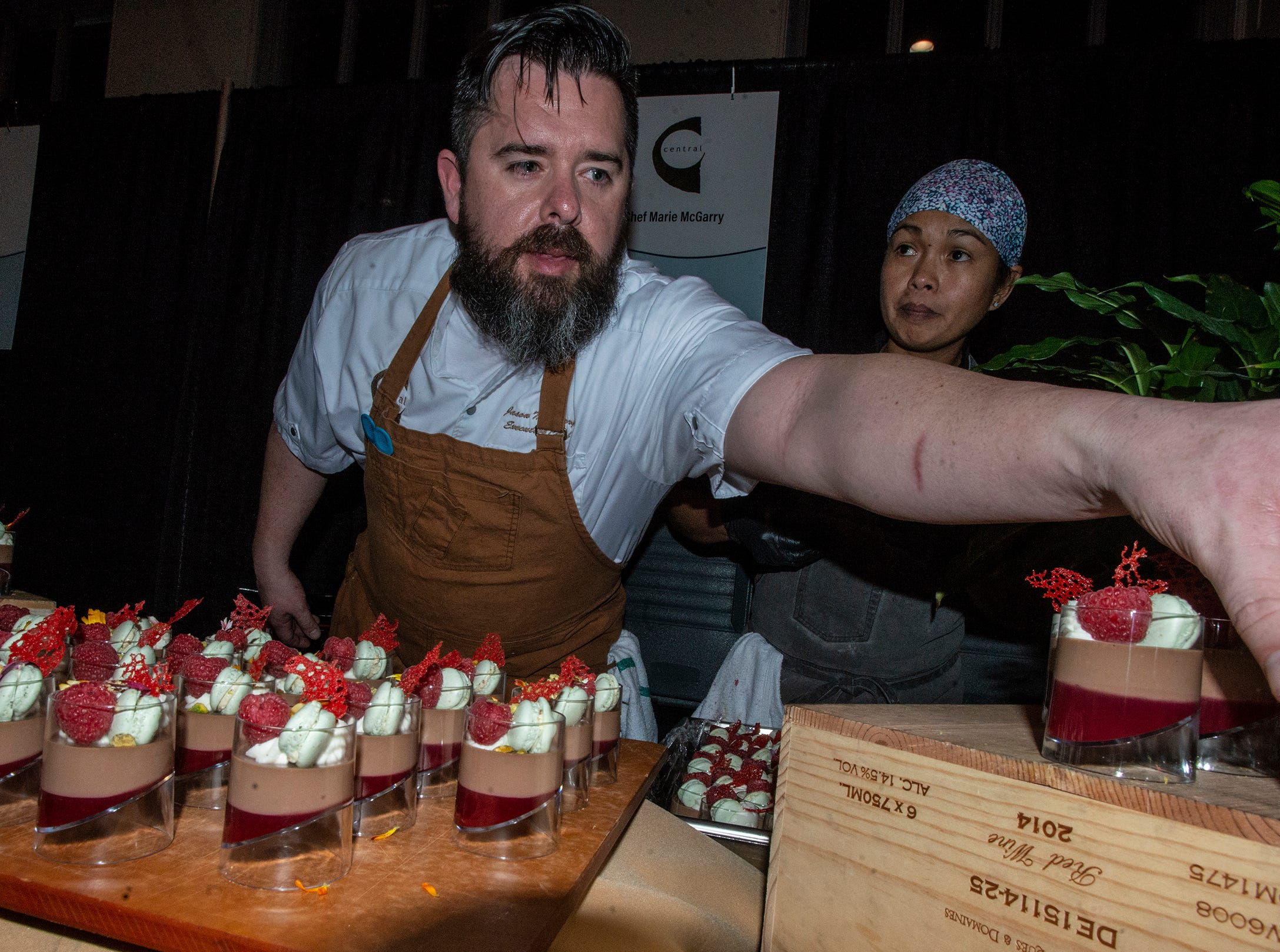 Central served Chocolate Raspberry pot de Creme for dessert. The annual Feast of Flavours was held Monday, Jan. 28, 2019, at Alabama Shakespeare Festival in Montgomery.