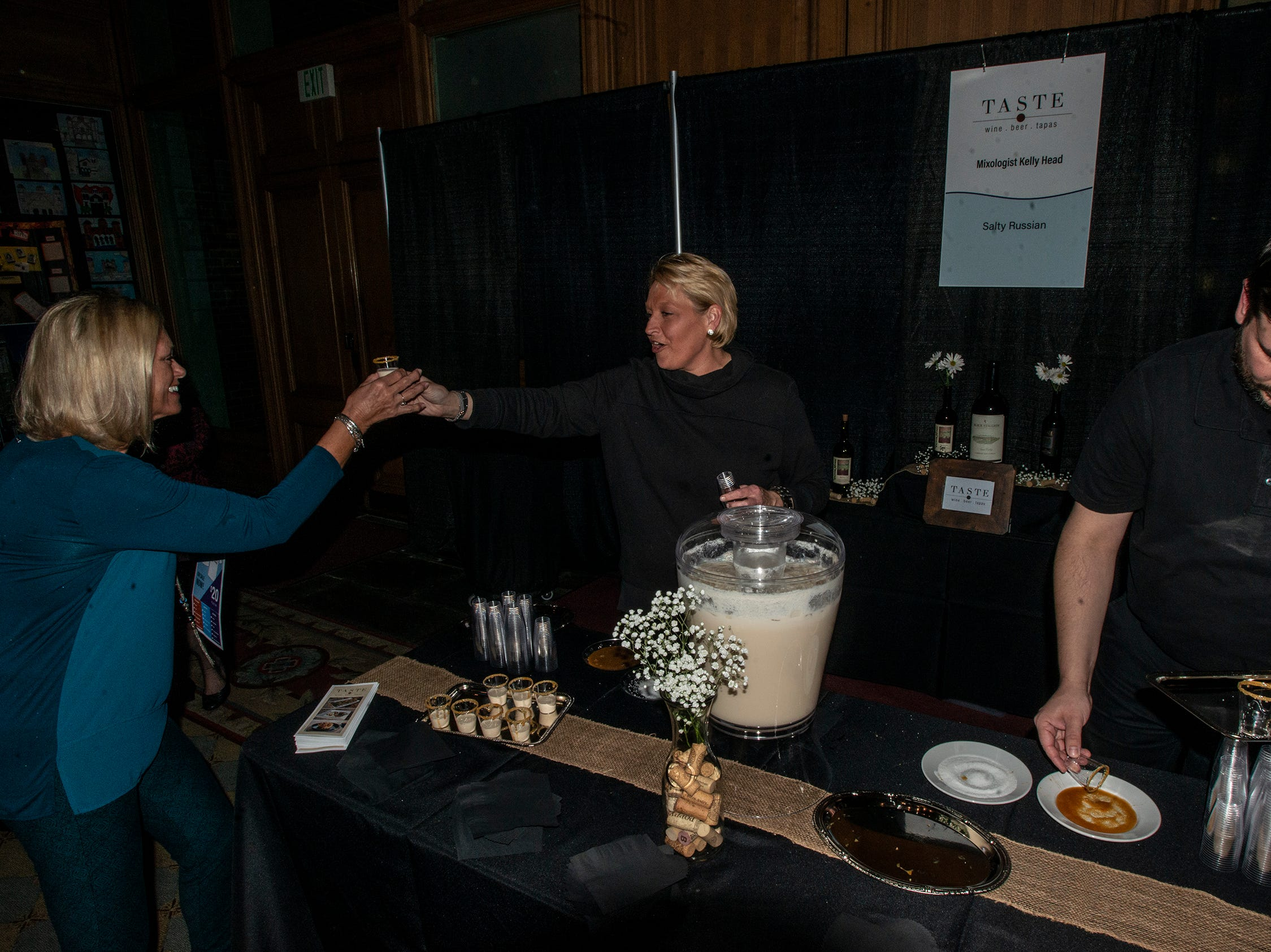 Taste serves guest Salty Russian drinks. The annual Feast of Flavours was held Monday, Jan. 28, 2019, at Alabama Shakespeare Festival in Montgomery.