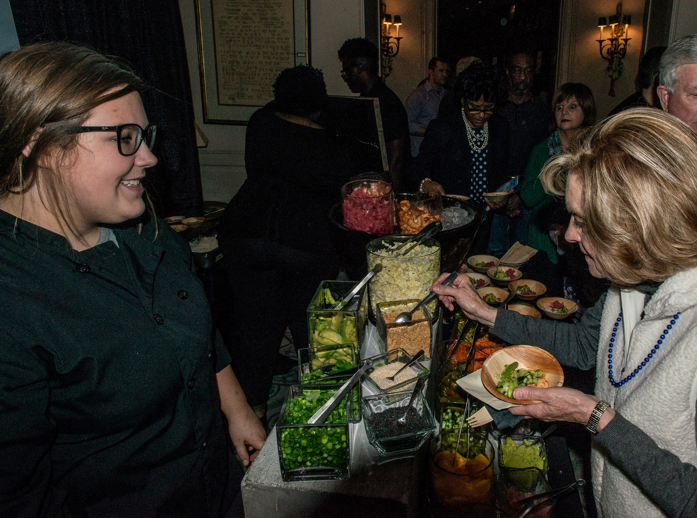 Jennie Weller Catering and Events gave guests a chance to try Poke. The annual Feast of Flavours was held Monday, Jan. 28, 2019, at Alabama Shakespeare Festival in Montgomery.
