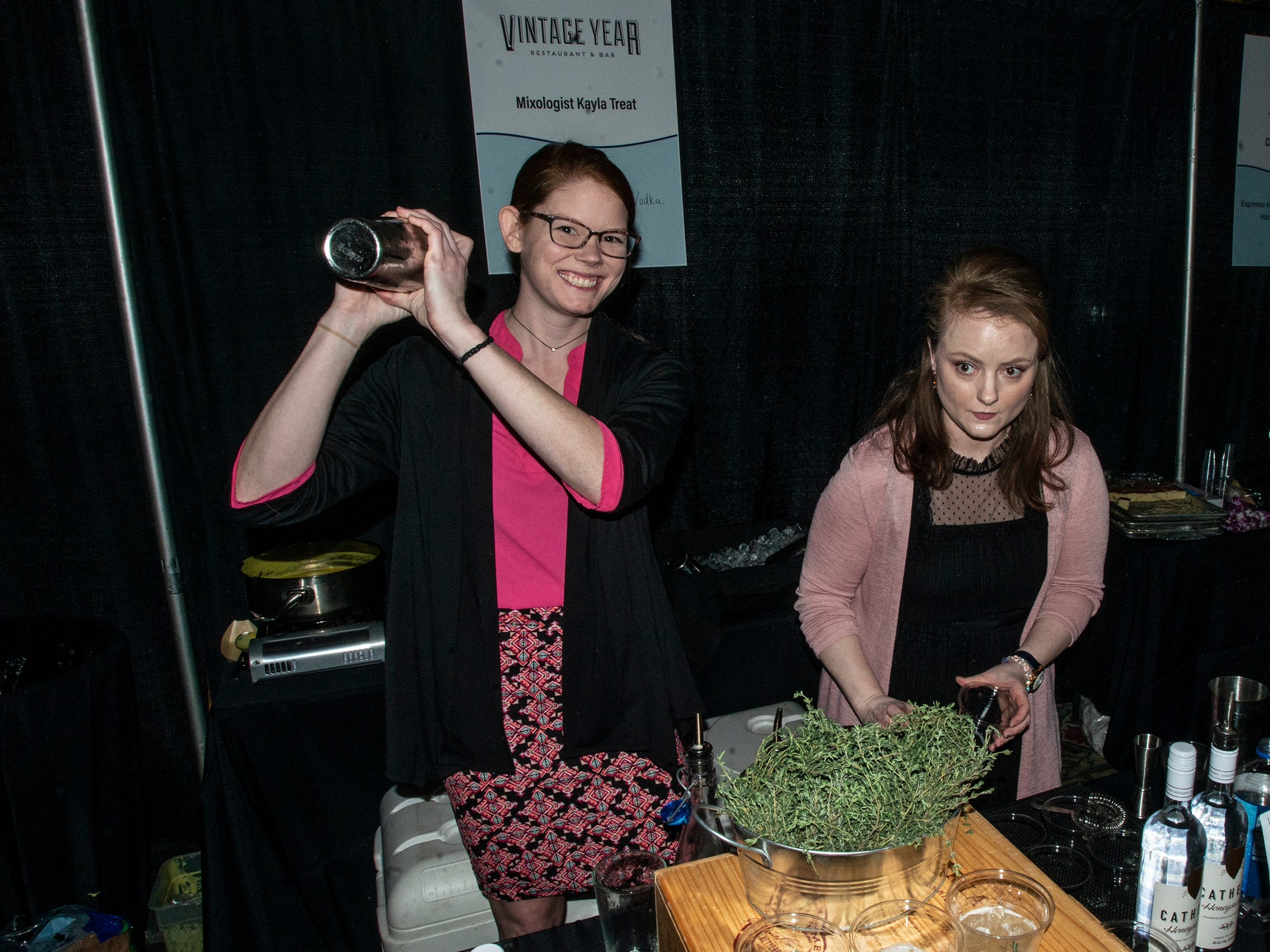 Vintage Year's Kayla Treat won for mixology with her Show Thyme drinks. The annual Feast of Flavours was held Monday, Jan. 28, 2019, at Alabama Shakespeare Festival in Montgomery.