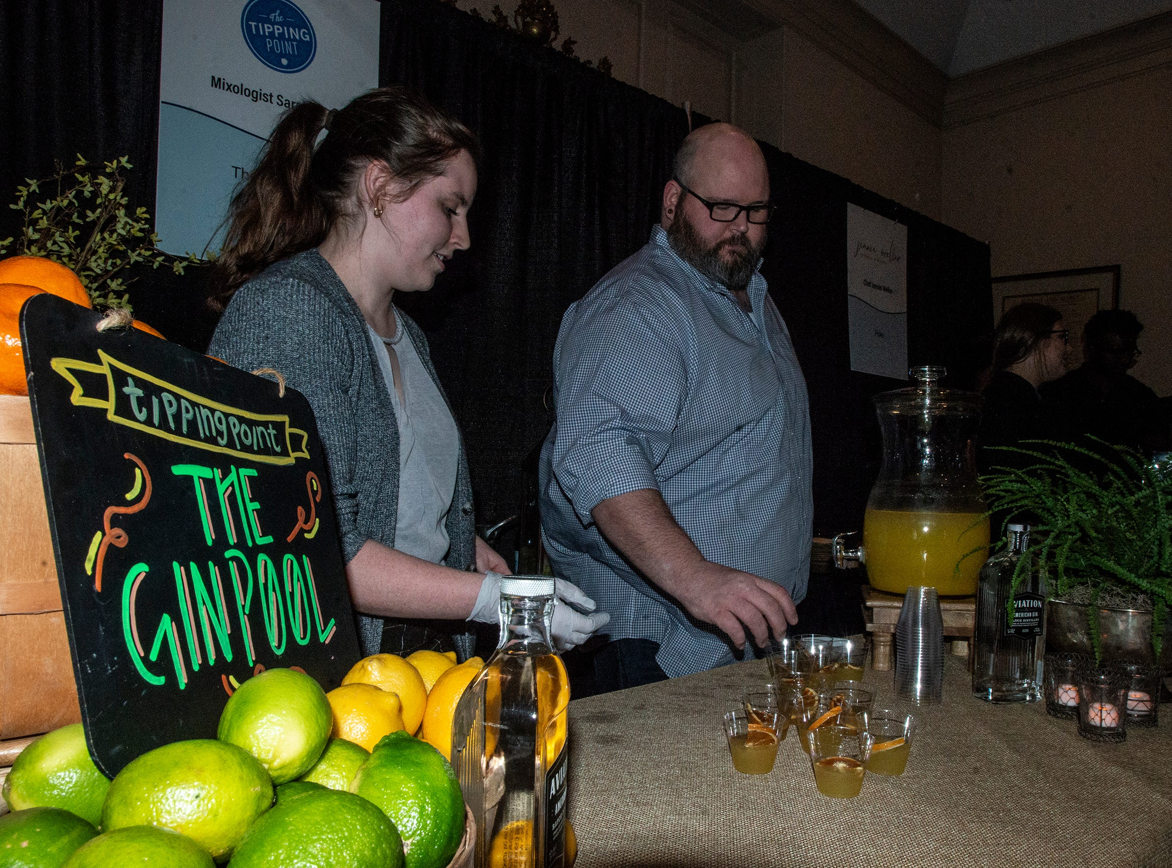 The Tipping Point served The Ginpool drinks to guests. The annual Feast of Flavours was held Monday, Jan. 28, 2019, at Alabama Shakespeare Festival in Montgomery.