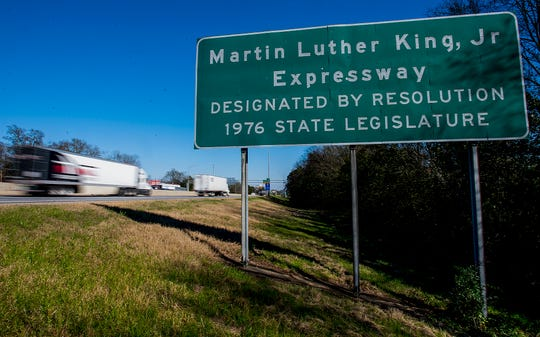 Interstate 85 through Montgomery, Ala., known as the Martin Luther King, Jr., Expressway, is shown on Tuesday January 29, 2019.