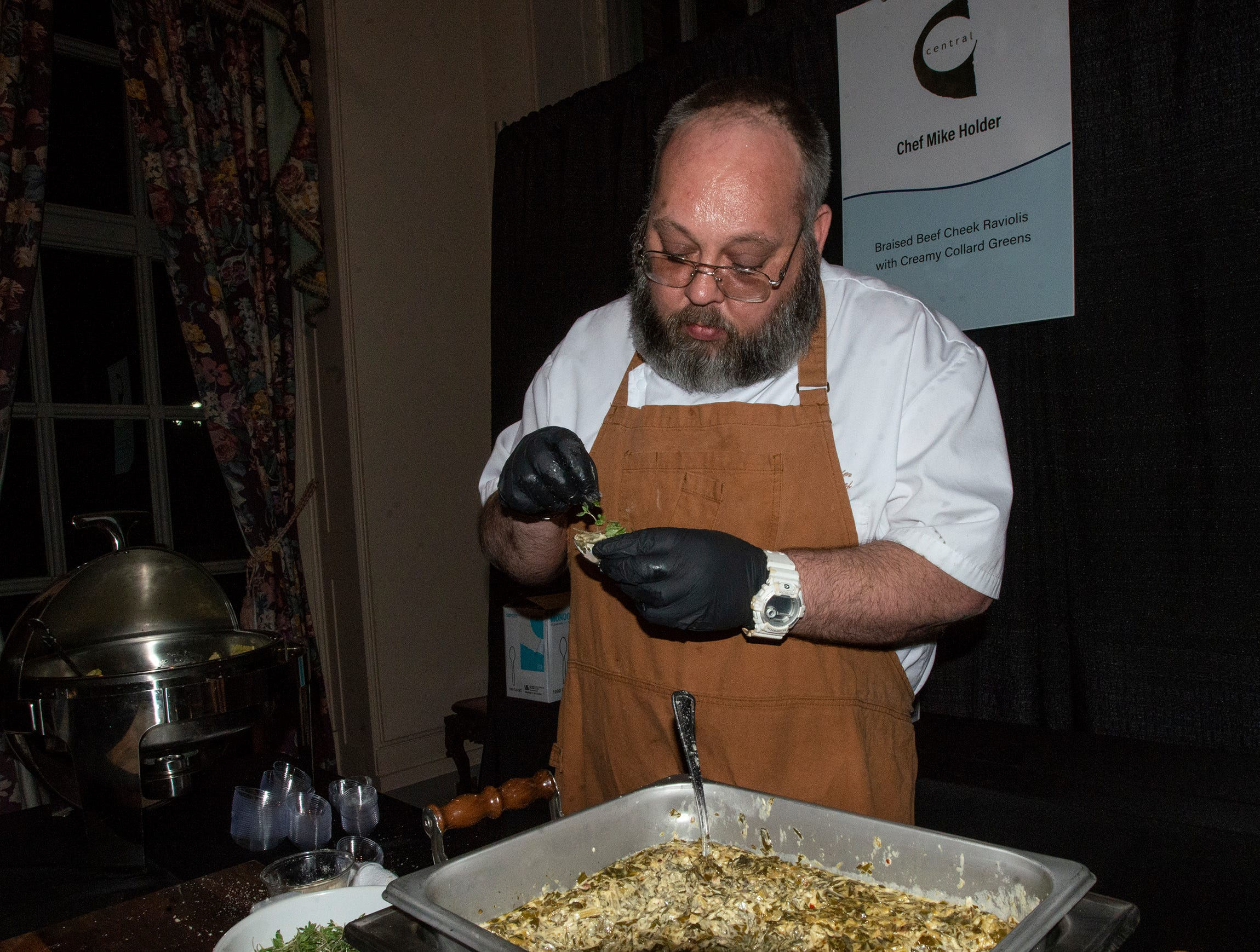 Central served guests Braised Beef Cheek Raviolis with Creamy Collard Greens. The annual Feast of Flavours was held Monday, Jan. 28, 2019, at Alabama Shakespeare Festival in Montgomery.
