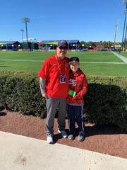 Oakland football coach Kevin Creasy and his son, Kyler, spent the weekend in Orlando at the Pro Bowl. Creasy earned the trip by being named Tennessee Titans Coach of the Year.