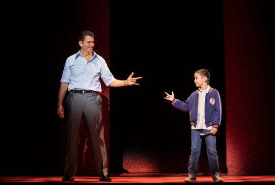 "Joe Barbara (Sonny) and Frankie Leoni (Young C) in ""A Bronx Tale."""