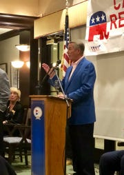 Former Republican Speaker of the House John Boehner addresses the Caxambas Republican Club on Monday night, Jan. 28, 2019.