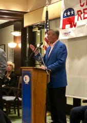 Former Republican Speaker of the House John Boehner addresses the Caxambas Republican Club on Monday night, Jan. 28, 2019.