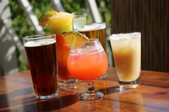 Bahama Breeze's bottomless weekends include Bahamaritas, Bahama Mamas and Painkillers as well as 20-ounce Aruba Red and Blonde drafts.