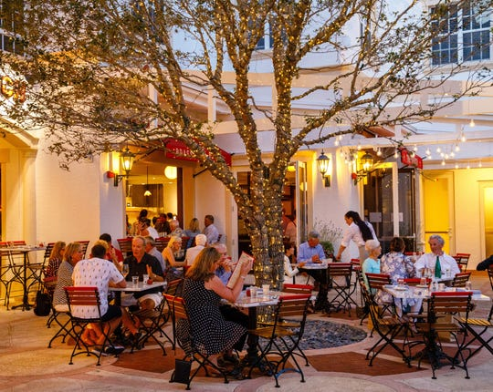 Dine al fresco on the patio at The French, 365 Fifth Ave. S., in downtown Naples.