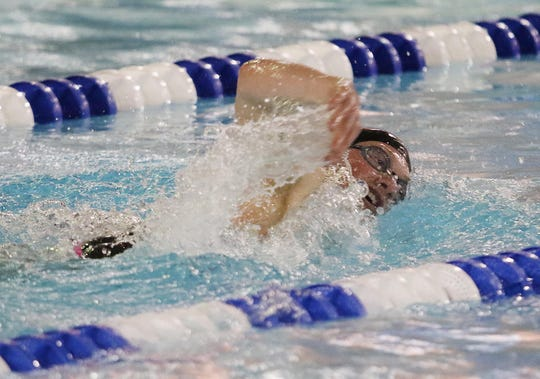 Conrad Hoody of River Dell/Westwood in the Boys 200 Yard Freestyle.