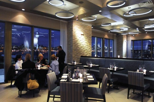 Dining with New York skyline views at Haven restaurant in Edgewater