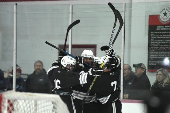 Wayne Hills/Wayne Valley scored three straight second period goals to overcome a deficit and beat Ridgewood, 4-2 and defend their Silver Cup title.