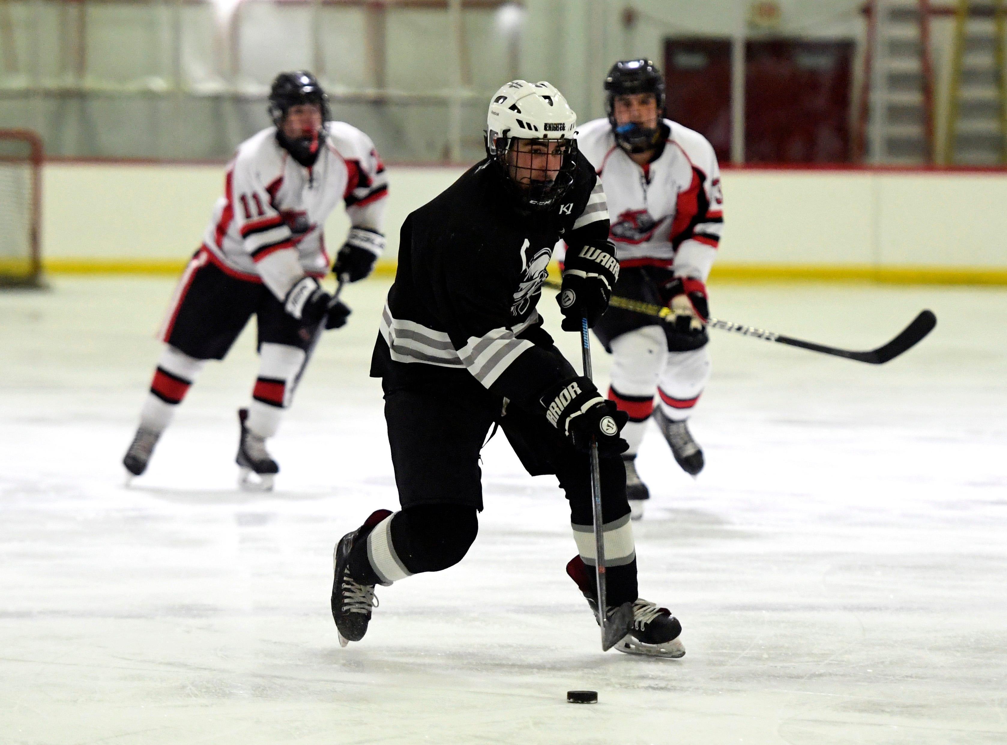 Wayne's Jared Cohen skates against Lakeland. Lakeland defeats Wayne in the Passaic County hockey championship, 6-3, on Monday, Jan. 28, 2019 in Little Falls.
