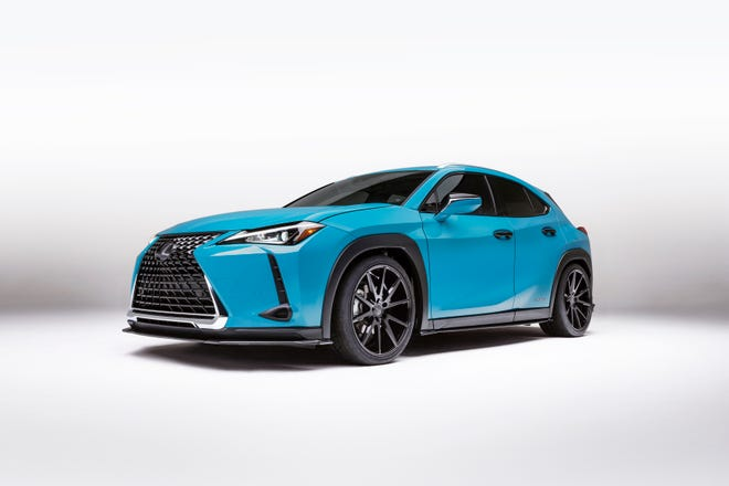The 2019 Lexus UX is available in two versions: the front-wheel drive UX200 introduces a new high-efficiency 2.0-liter, four-cylinder engine, while the all-wheel drive UX250h pairs an even higher-efficiency version of the 2.0-liter gas engine with a new fourth-generation hybrid drive system.