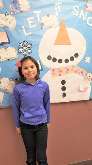"""Yareli Del Muro, a 10-year-old in the fourth grade, has been chosen as White Mountain Elementary School's """"Student of the Month""""."""