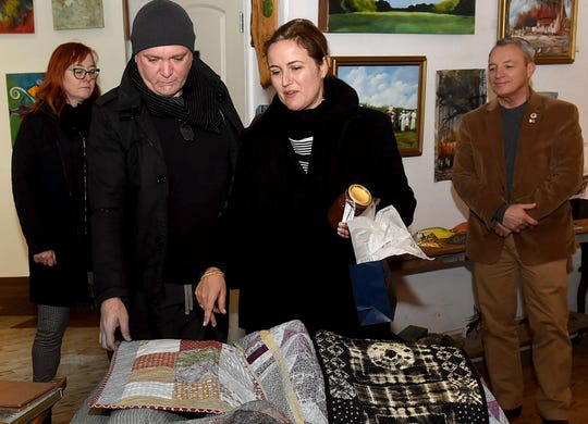 Visitors from the French Consulate visit NuNu Arts and Culture Collective Tuesday afternoon.