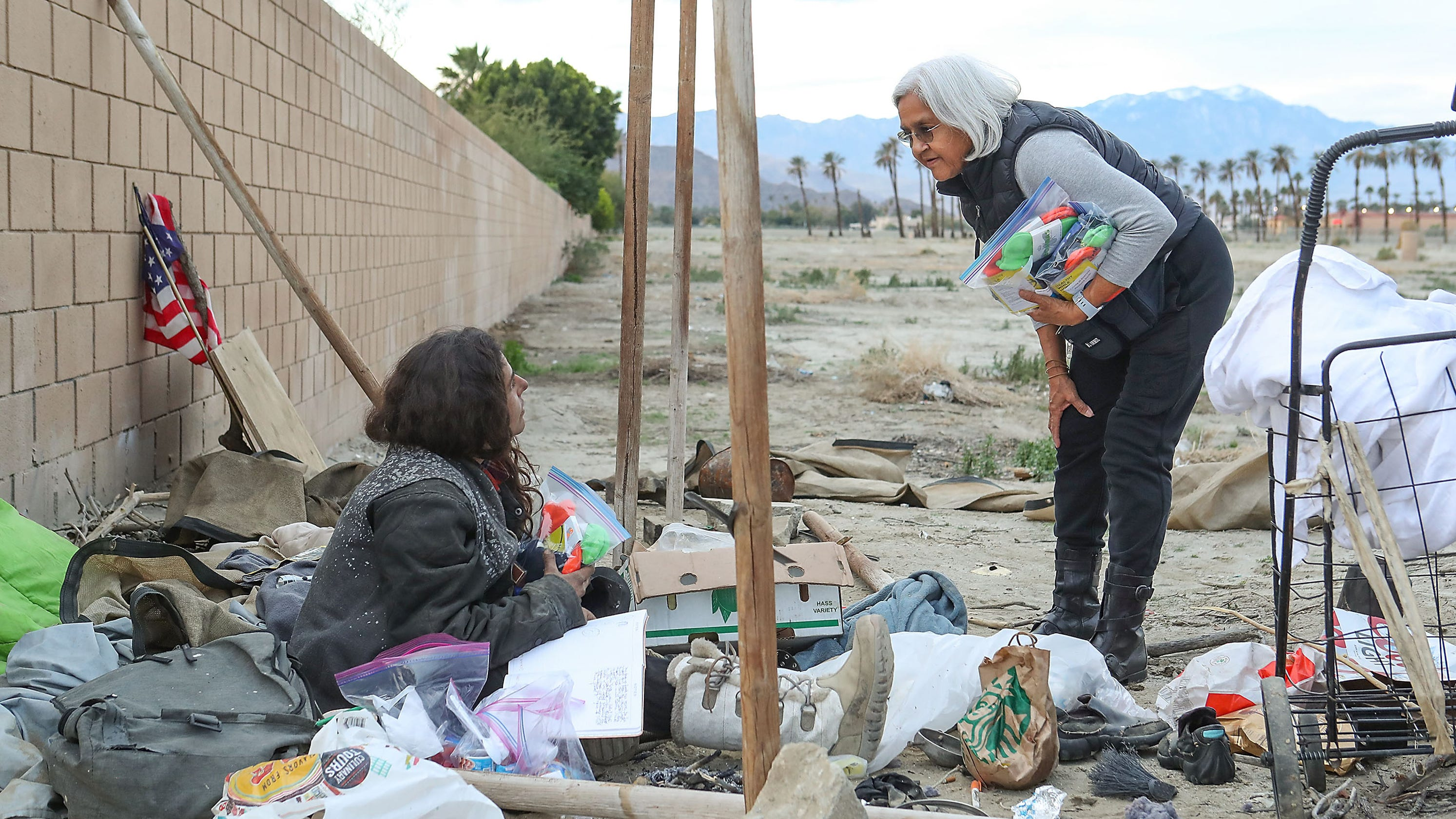 Palm Springs Area Volunteers Participate In Homeless Point In Time Count