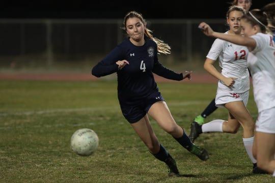 Shayne Manion plays for La Quinta against Palm Desertd, January 28, 2019.