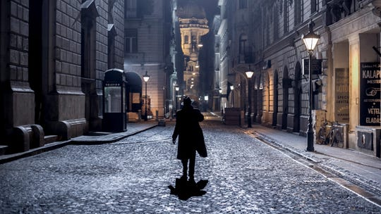 "Krisztián Kolovratnik plays reporter Zsigmond Gordon in ""Budapest Noir."""