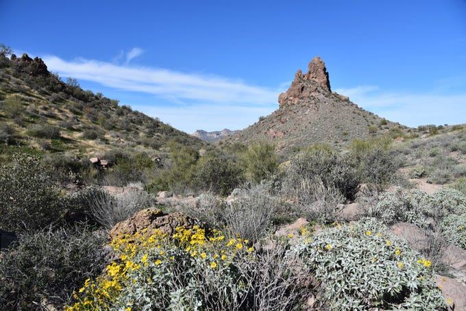 Hill 2636 is a distinctive feature along the Massacre Grounds Trail.