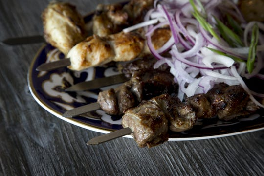 Shish kebabs from Cafe Chenar in Phoenix.