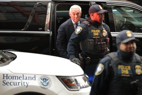 Roger Stone a su llegada a la Corte.