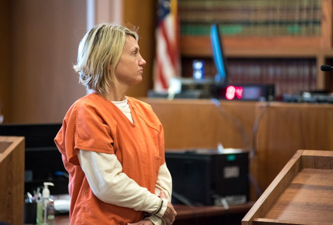 Shanna Kota, 40, is lead out of Judge Cynthia Platzer's courtroom Tuesday, Jan. 29, 2019 after a probable cause hearing. Kota is one of two being charged for allegedly lacing a recovery home manager's food with heroin.