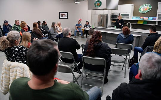 Attorney Rebecca Lyttle hosts a public meeting for parents to voice concerns about reported bullying in West York School District, Monday, January 28, 2019.John A. Pavoncello photo