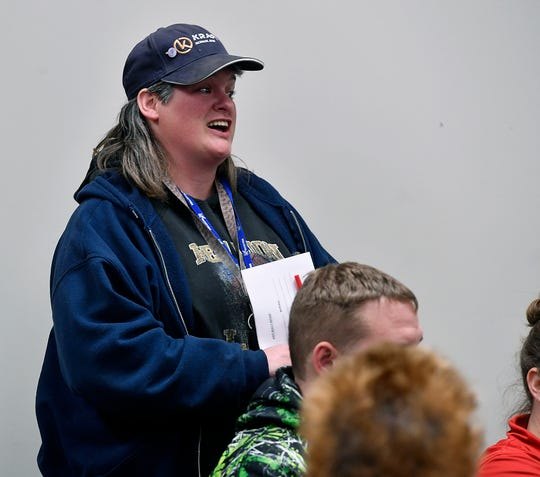 Loretta Stump talks about her experiences as a bus driver for West York School District during a public meeting for parents to voice concerns about reported bullying in West York School District, Monday, January 28, 2019.John A. Pavoncello photo