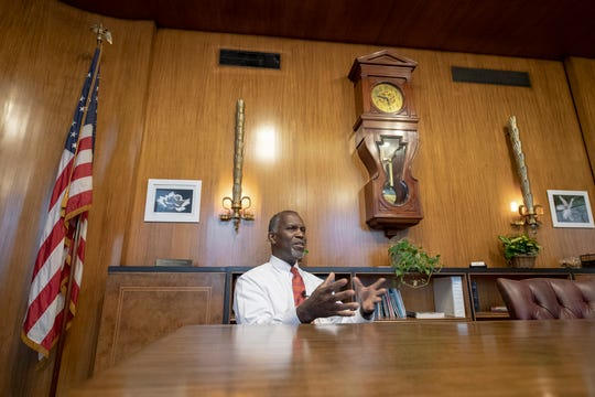 Michael Newsome, cabinet secretary for Governor Wolf, at his office at the state capital complex in Harrisburg Tuesday January 29, 2019.