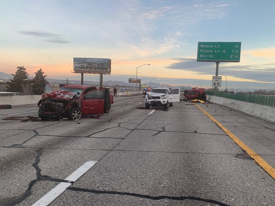 Three vehicles were involved in an early-morning accident on Interstate 580 Sunday morning that left one dead.