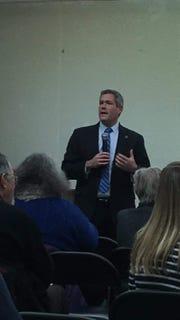 Adam Bello at Brighton Democratic Committee caucus Monday Jan. 28