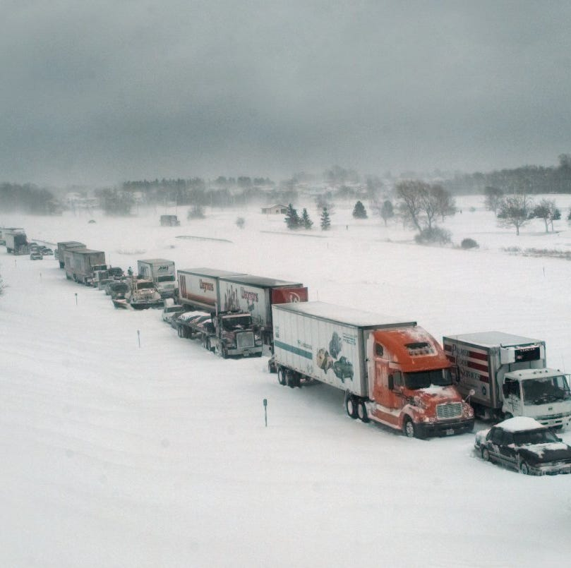New York bans buses and tractor-trailers on Thruway, I-81 due to wintry weather