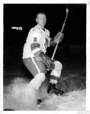 Don Cherry in his playing days. The Amerks legendary player and coach, 84, was enshrined in the Class of 2019 AHL Hall of Fame on Sunday.