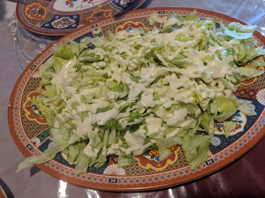 The salad was simple but fresh.
