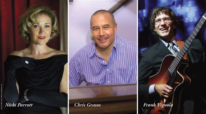 Legends of Jazz featuring Nicki Parrott, Chris Grasso and Frank Vignola is being presented by the San Angelo Symphony on Feb. 2, 2019.