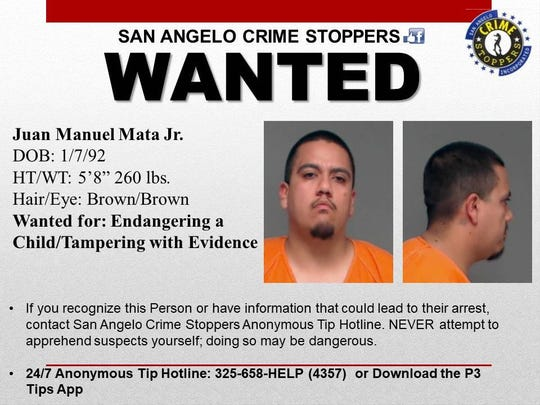 San Angelo police searching for 3 possible child crime suspects