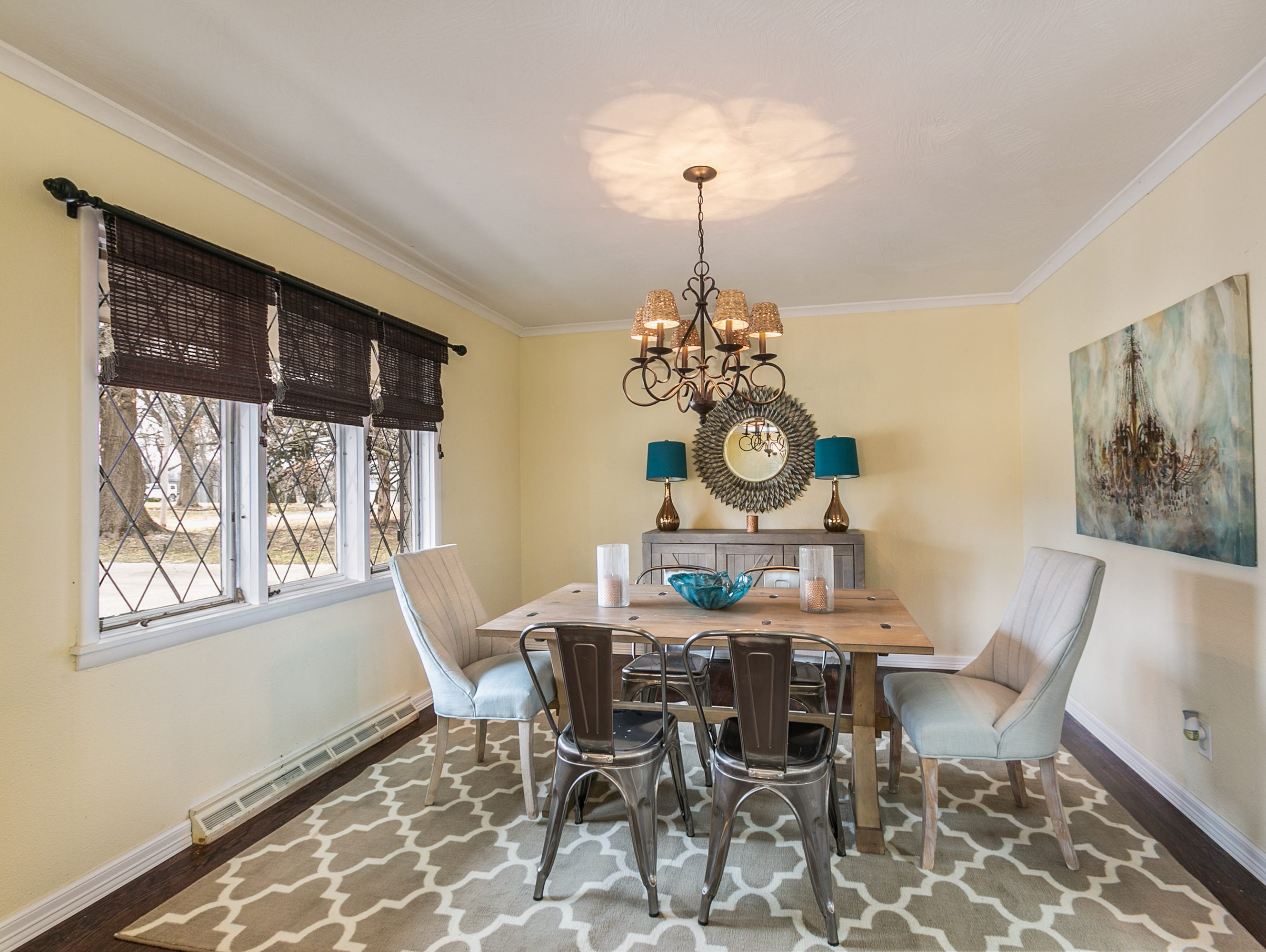 The formal dining room offers plenty of space to entertain.