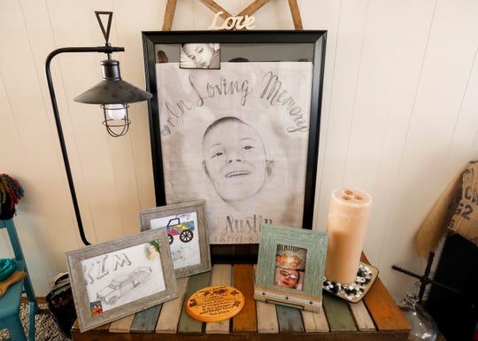 Kimberly Lightwine said a woman she was in prison with drew this picture of her son Austin.