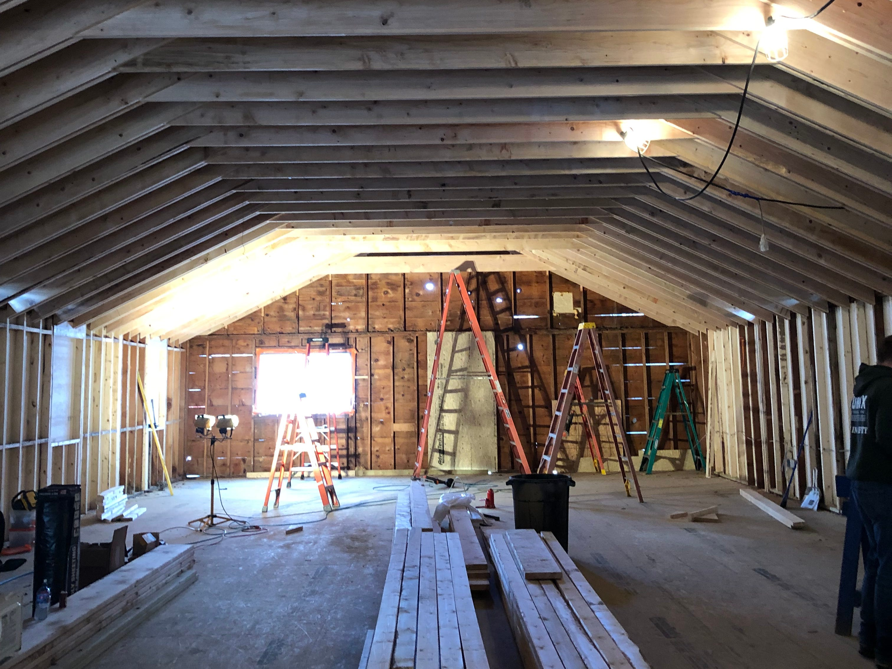 Jeannie Breshears, the new owner of what was once Aunt Martha's Pancake House, says the former ceiling was only 7 feet and 9 inches high.