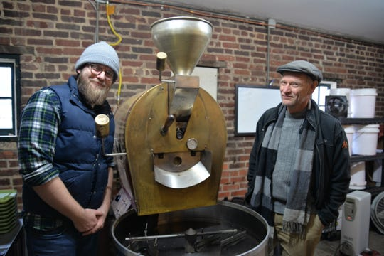 From left to right: Staunton Coffee Company roaster and general manager Beau Lafon and Cranberry's owner Joseph White, who purchased Staunton Coffee Company in mid-2018.